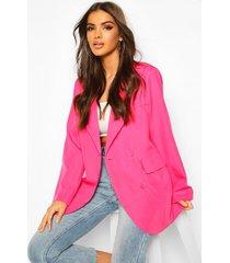 oversized boyfriend blazer, hot pink