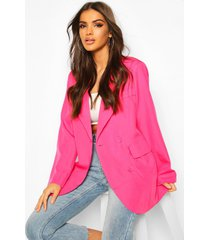 oversized boyfriend blazer, hot pink