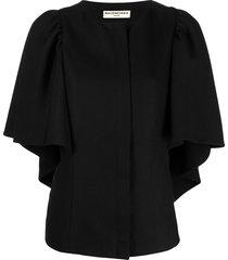 balenciaga pre-owned wide sleeve single-breasted jacket - black