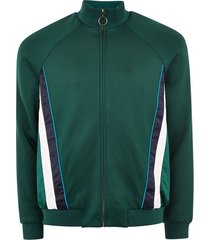 mens green track top with side panel