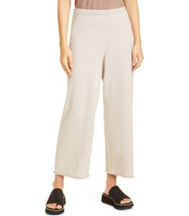 eileen fisher organic cotton wide leg ankle pants, size x-small in maple oat at nordstrom