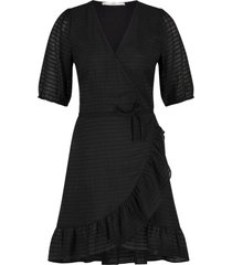 aaiko briggit wrapp dress black
