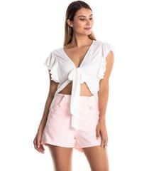 conjunto de short y blusa de tiras-rosado-kolor latino