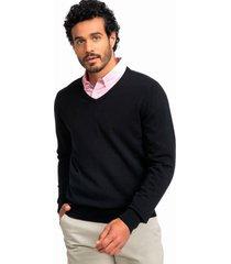 sweater cuello en v negro arrow