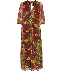 tessgz long dress ms20 jurk knielengte multi/patroon gestuz