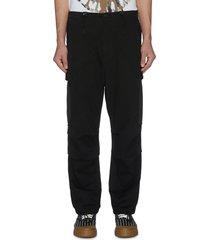 cargo pockets wide leg pants