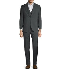 wool mohair pinstripe 3-piece suit