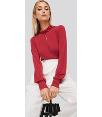 na-kd party keyhole polo body - red