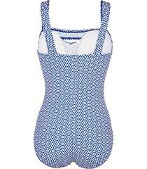 baddräkt maritim blå::vit