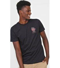 camiseta rvca frank knives preta - preto - masculino - dafiti