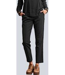 broek alba moda zwart::cognac
