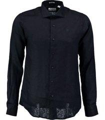 dstrezzed donkerblauw linnen overhemd - valt 1 maat kleiner
