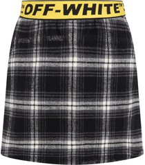 off-white multicolor skirt for girl with logos