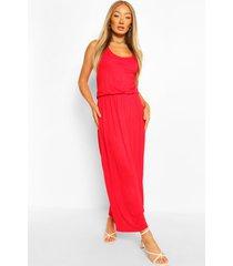 maxi-jurk met racerback, rood