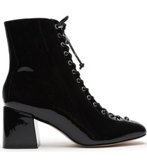 new kika patent leather bootie - 11 black patent leather