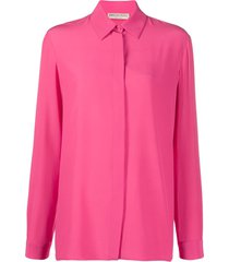emilio pucci silk straight-fit shirt - pink