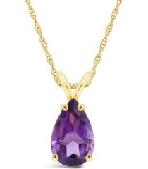 amethyst (2-3/4 ct. t.w.) pendant necklace in 14k yellow gold. also available in swiss blue topaz and swiss citrine.