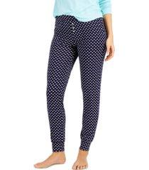 alfani printed essential jogger pajama pants, created for macy's