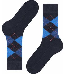 burlington socks preston socks - black/blue 24284-3115