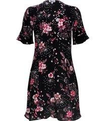 vestido con botones en frente color negro, talla 6