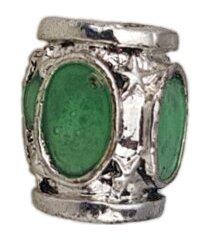 berloque papillô joias verde em ródio branco