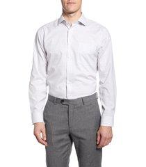 men's big & tall nordstrom men's shop trim fit non-iron dot dress shirt, size 18 - 34/35 - beige