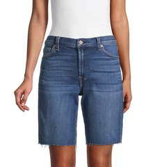 7 for all mankind women's relaxed-fit bermuda denim shorts - blue nova - size 30 (8-10)