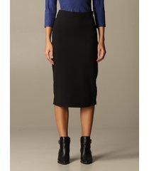 emporio armani skirt emporio armani pencil skirt with leather edges