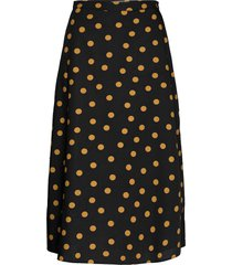 jacintagz skirt ao20 knälång kjol svart gestuz