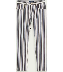 scotch & soda the norm - stripe out | high-rise jeans