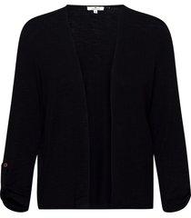 t-shirt jack stickad tröja cardigan svart tom tailor