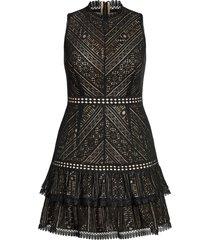 plus size women's city chic loving lace lace a-line dress, size x-small - black