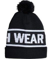 gorro hosh wear com pompom original preto