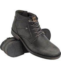 bota coturno masculino couro costurado conforto macio leve - masculino