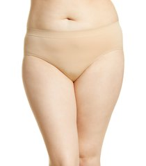 women's nordstrom bare hipster panties, size xx-large - beige