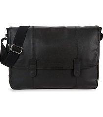 wayland leather messenger bag