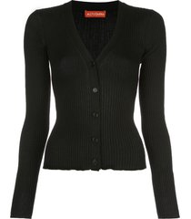 altuzarra harwell ribbed knit cardigan - black