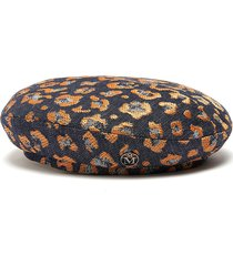 new billy' leopard print beret