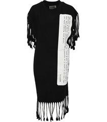 mm6 description print fringed dress