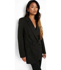 getailleerde corrigerende blazer, black
