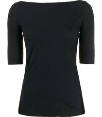 filippa k slim fit boat neck t-shirt - black