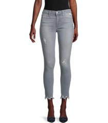 joe's jeans women's mid-rise ripped ankle skinny jeans - kenter - size 32 (10-12)
