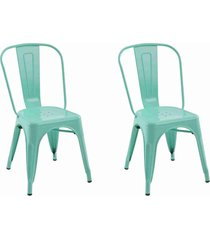 conjunto 02 cadeiras iron verde
