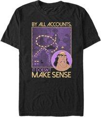disney men's emperor's new groove kronk doesn't make sense, short sleeve t-shirt