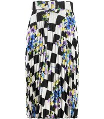off-white printed pleated skirt