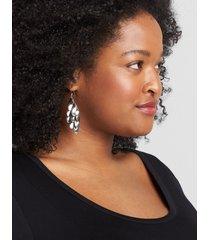lane bryant women's cascading disc drop earrings onesz silver