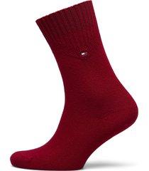 th women sock 1p cashmere lingerie socks regular socks röd tommy hilfiger