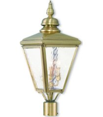 livex cambridge 3-light outdoor post top lantern