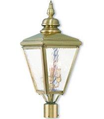 livex cambridge 3-light outdoor post top lantern
