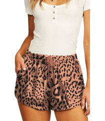 billabong road trippin floral twill shorts, size x-large in ani-animal at nordstrom